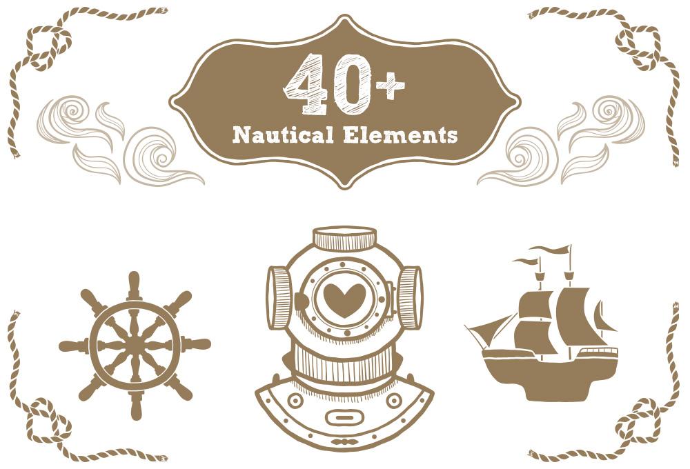 40-free-nautical-elements-vectors
