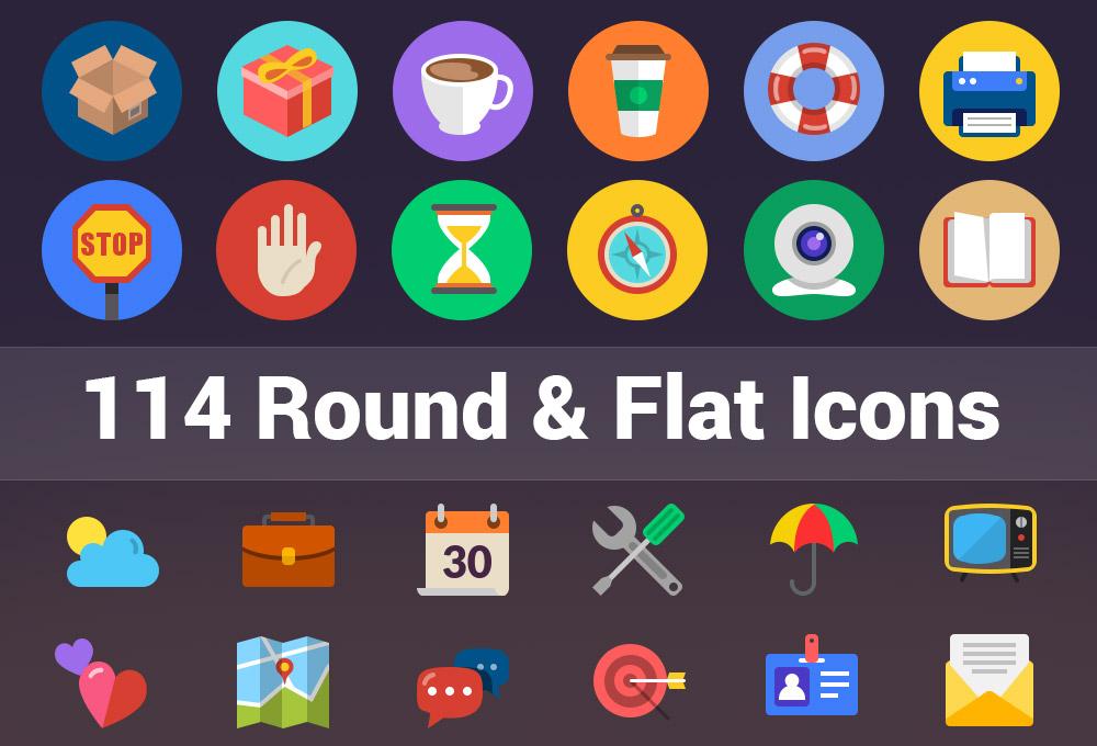 114 Flat & Round Icons