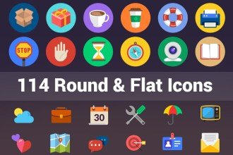 114 Round and Flat Icons