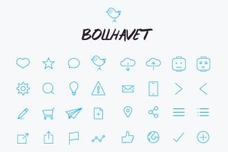 74 Free Flat Line Icons (Ai, PSD, Font)
