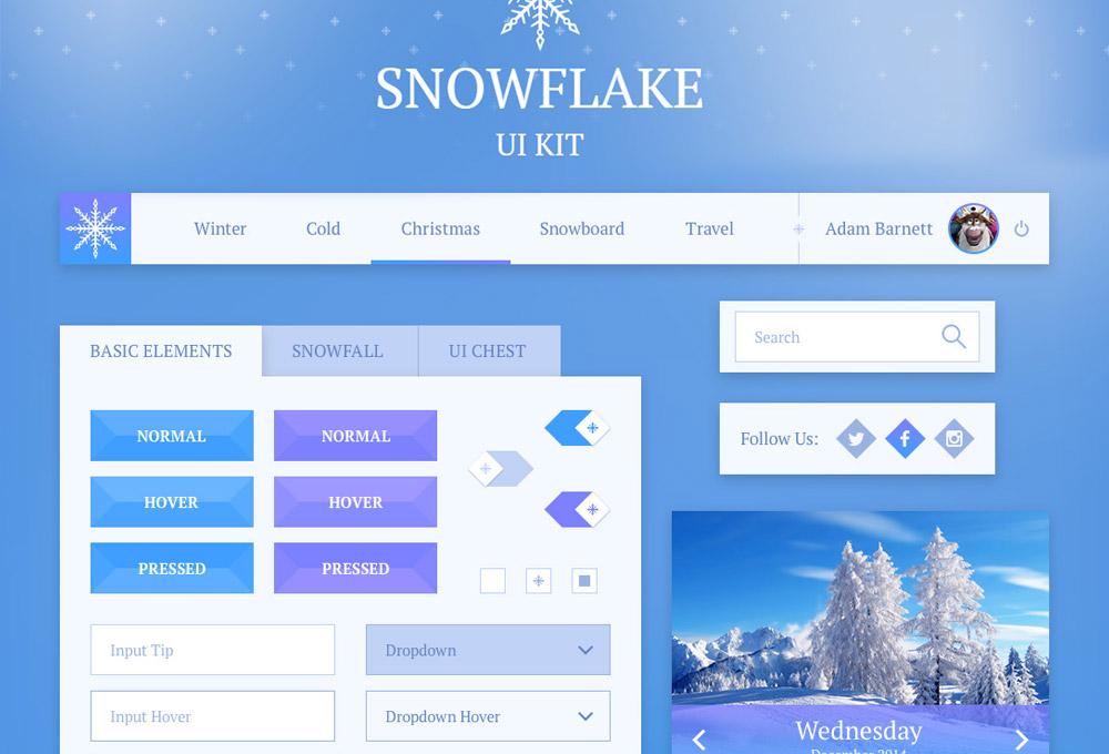 snowflake-free-ui-kit-featured