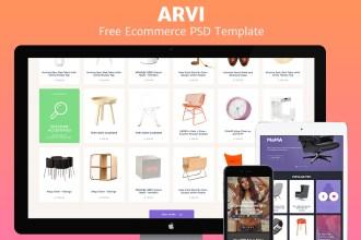 Arvi: Free Ecommerce Website PSD Template