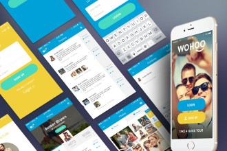 WOHOO: Free Mobile App UI Kit