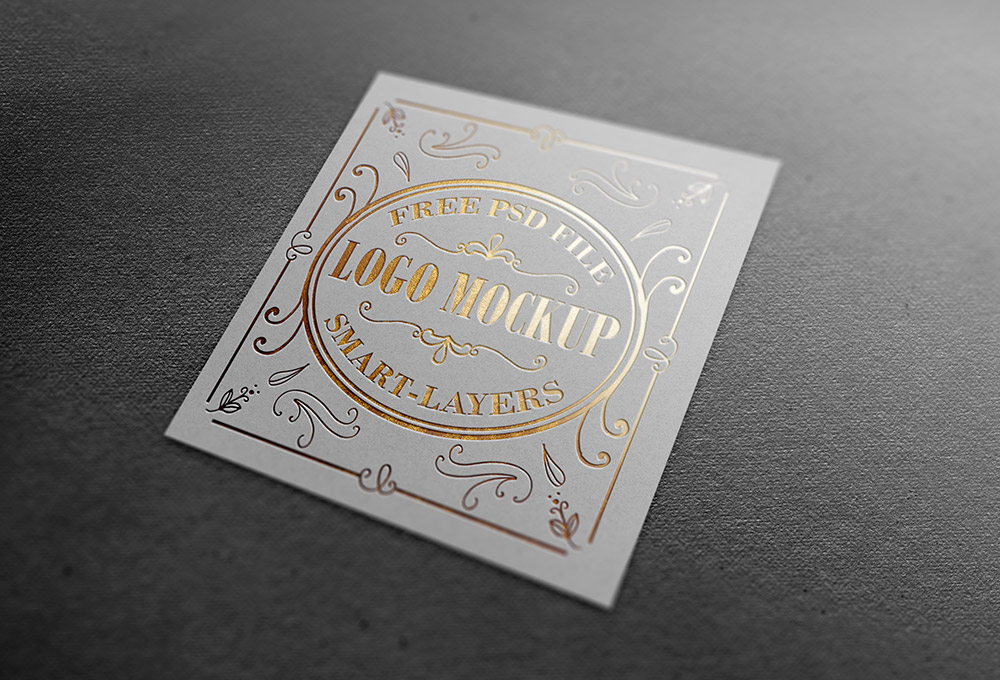 Gold And Silver Stamping Logo Mockup GraphicsFuel