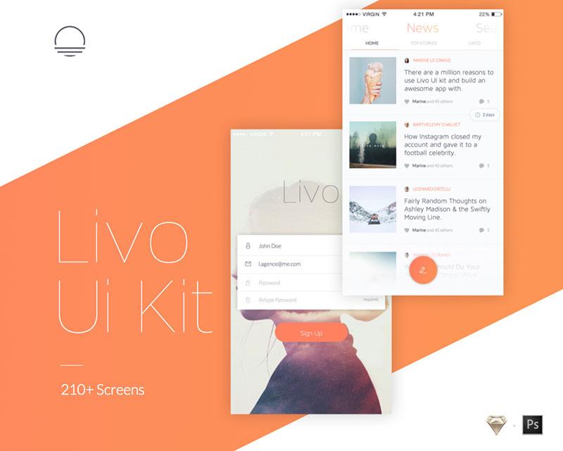 Livo Mobile UI Kit