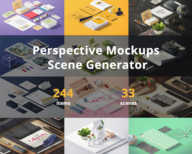 Perspective Mockups Scene Generator