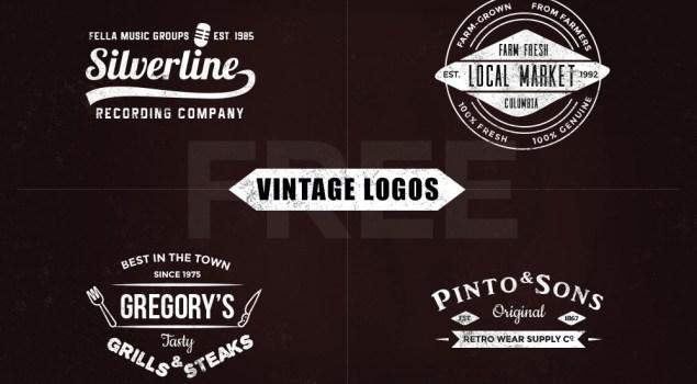 Free Vintage Logo Templates – Vol.1