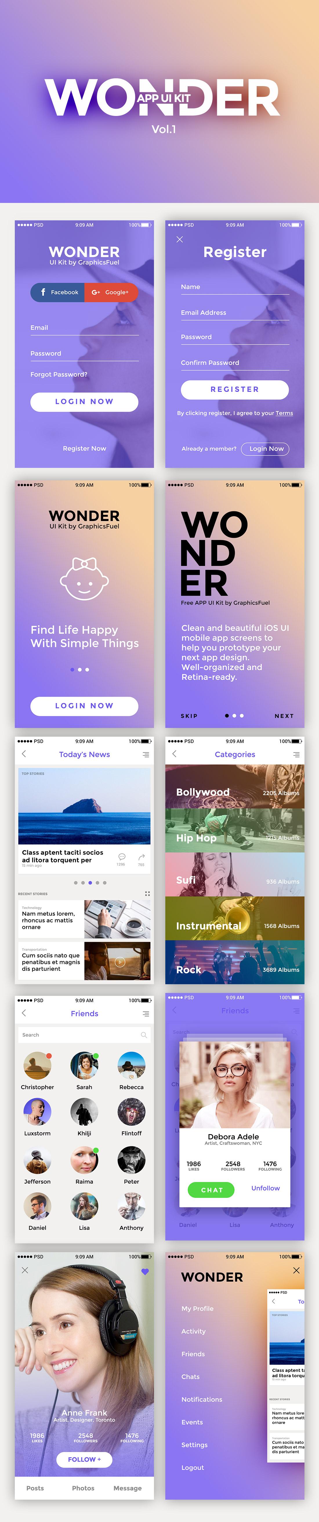 App UI Kit Freebie