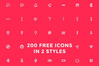 200 Free Icons