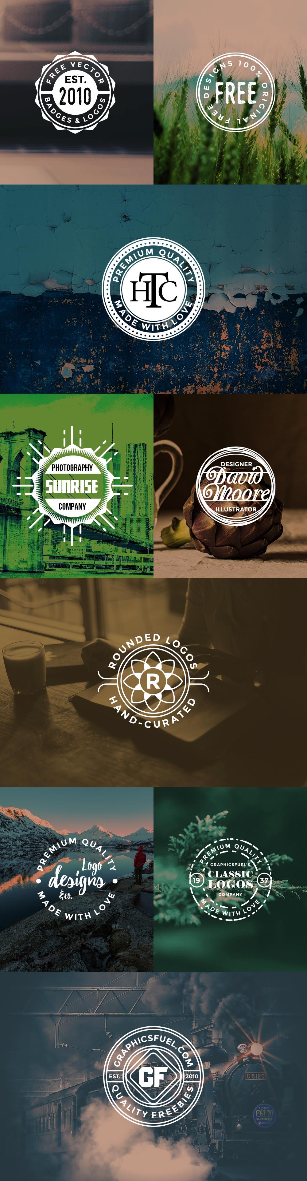 Vector Circular Logos Badges