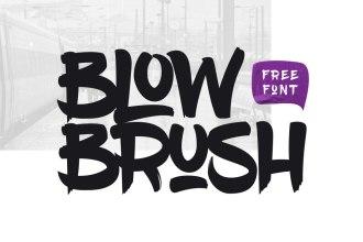 Blow Brush Free Font