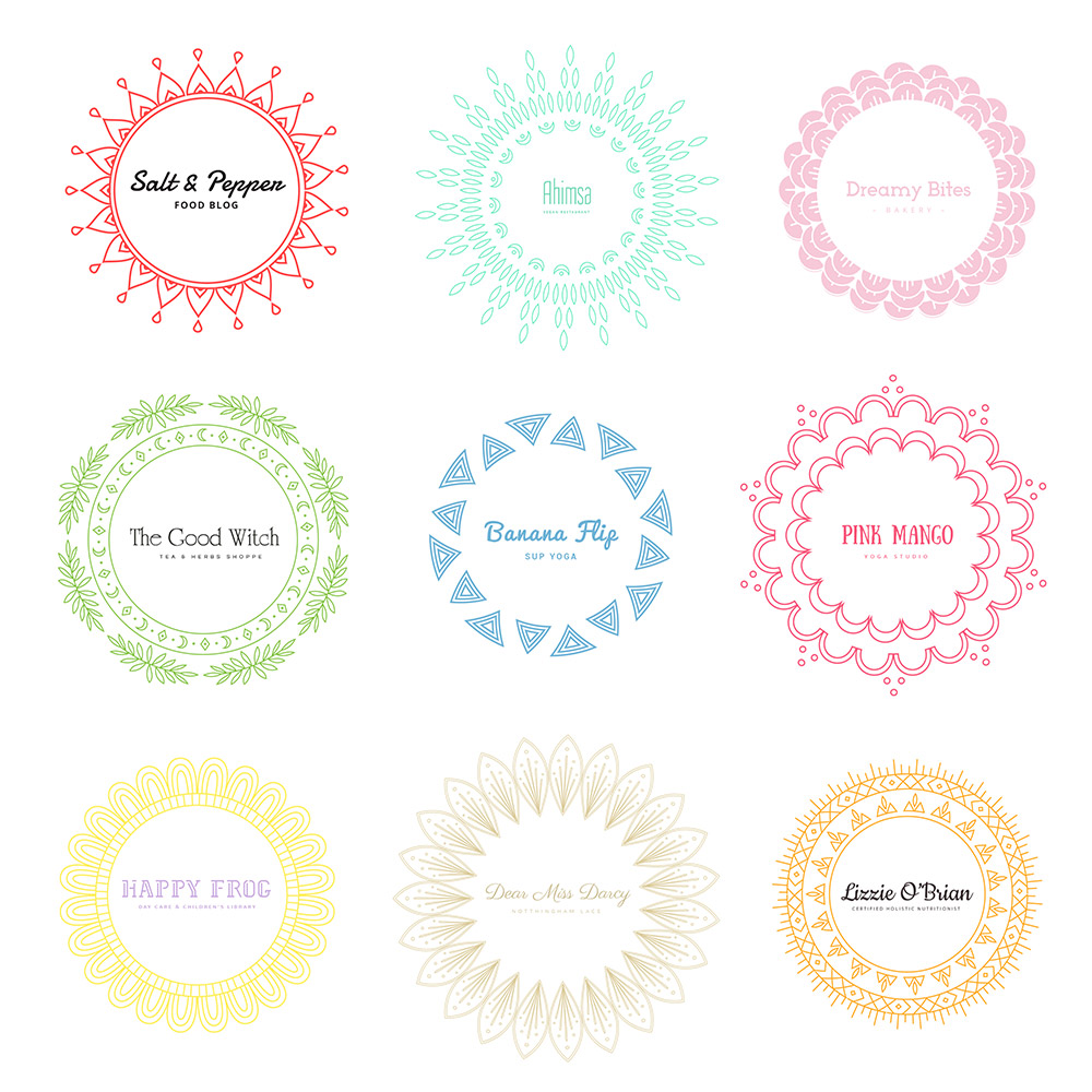 Mandala Free Logos Color