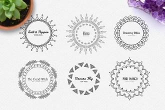 Mandala Free Logos Pack