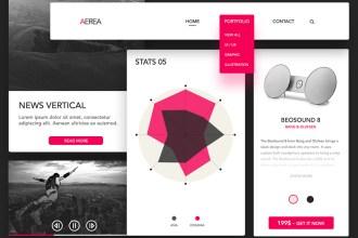 AEREA Free UI Kit PSD