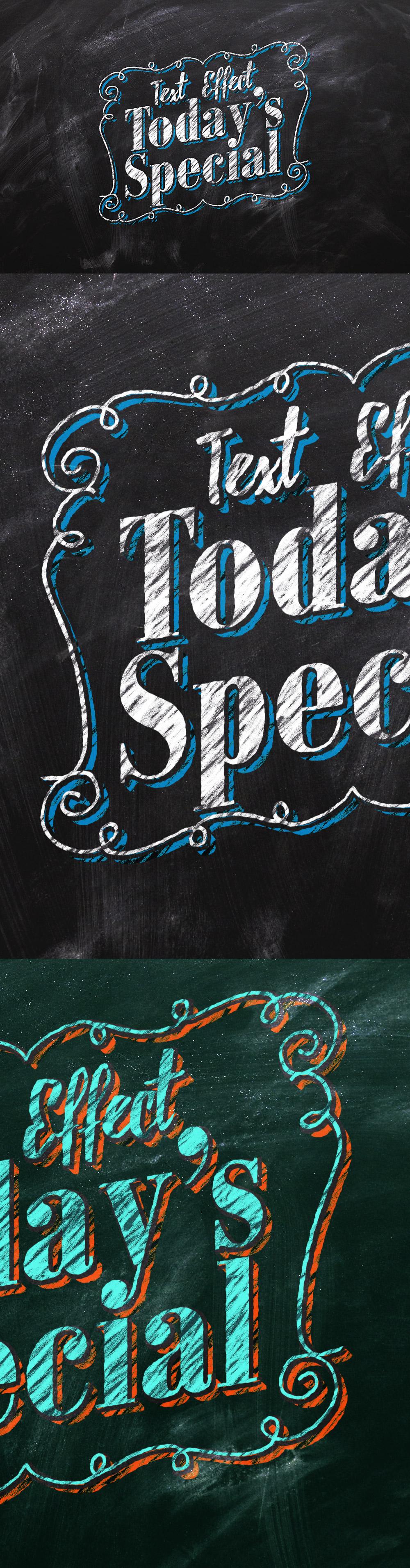 Chalkboard Text Effect