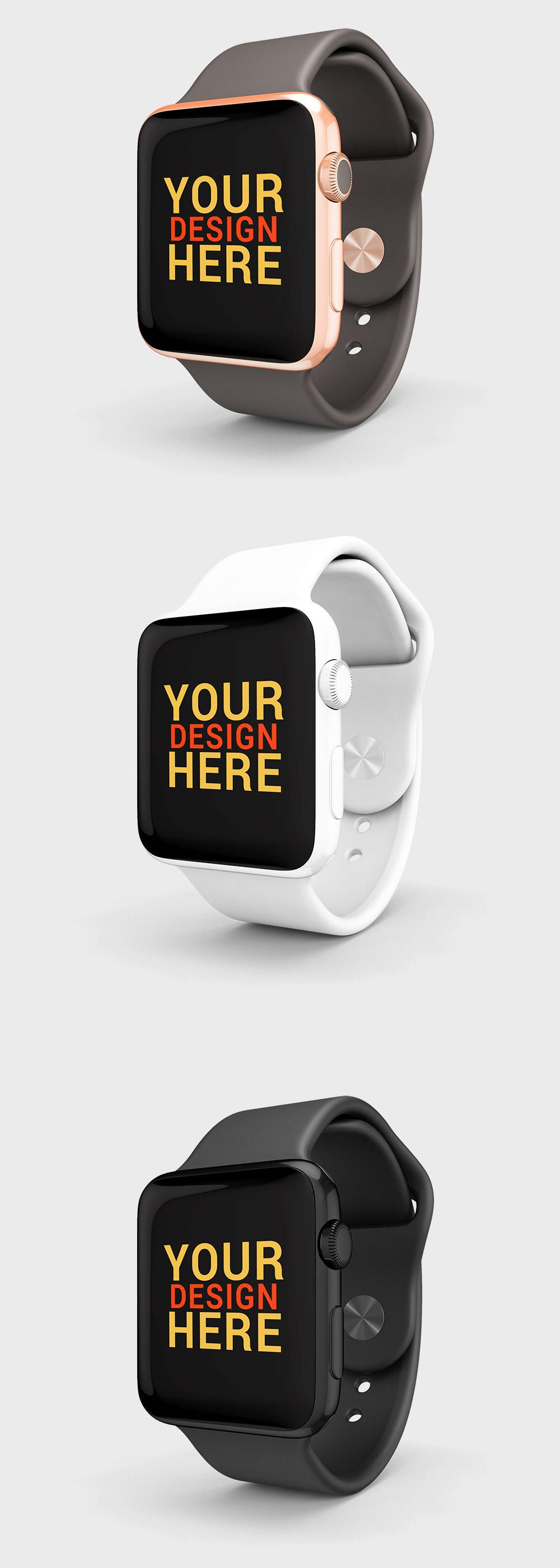 Free Apple Watch Mockup PSD