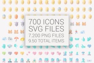 Free Emojis Vector Pack