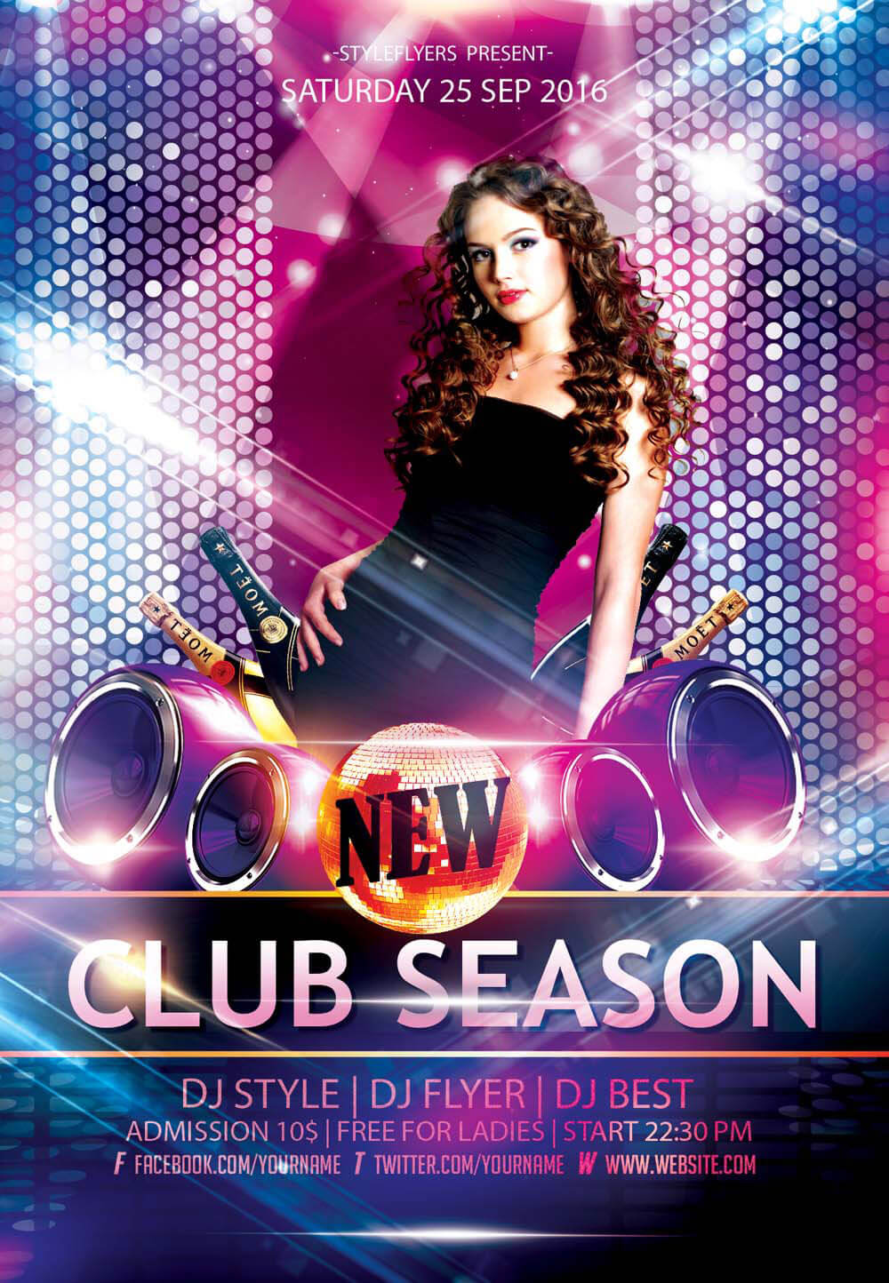 New Club PSD Flyer Template