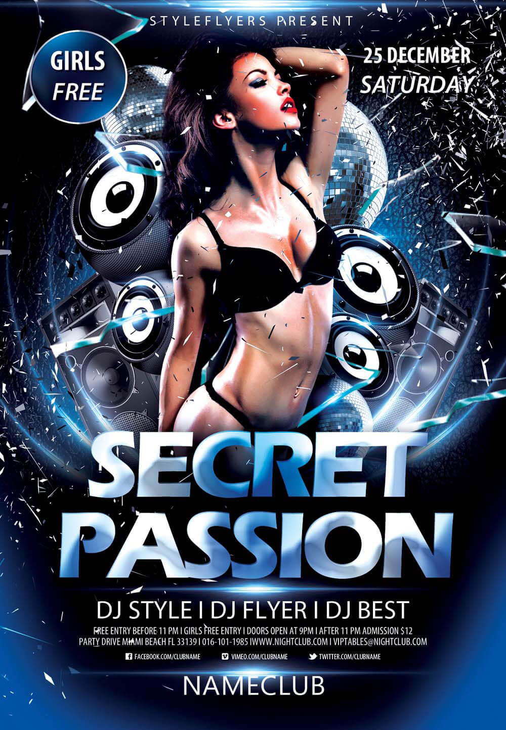 Secret Passion PSD Flyer Template
