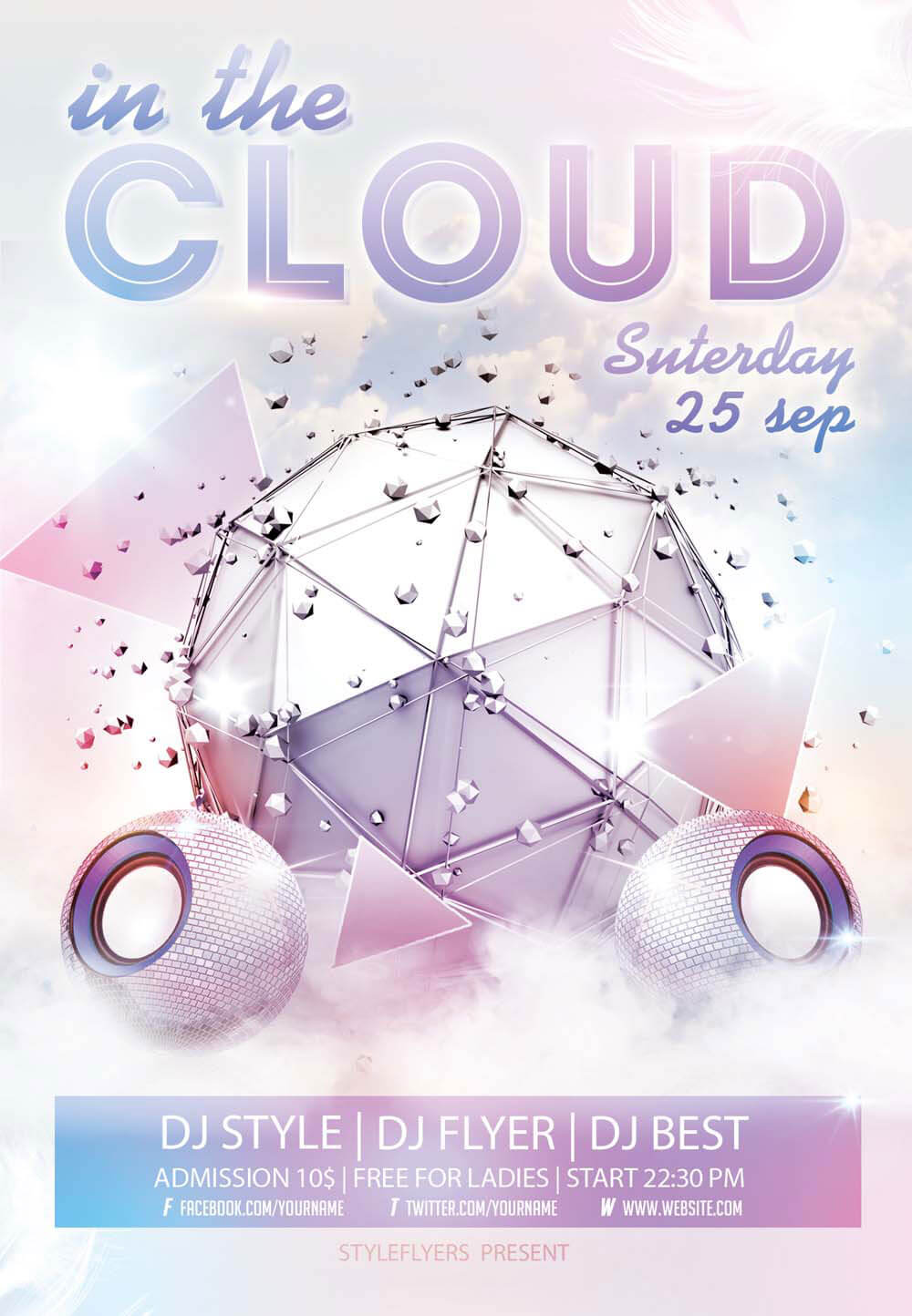 In The Cloud PSD Flyer Template