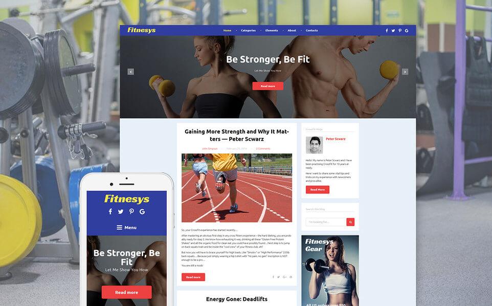 Fitness Blog WordPress Theme