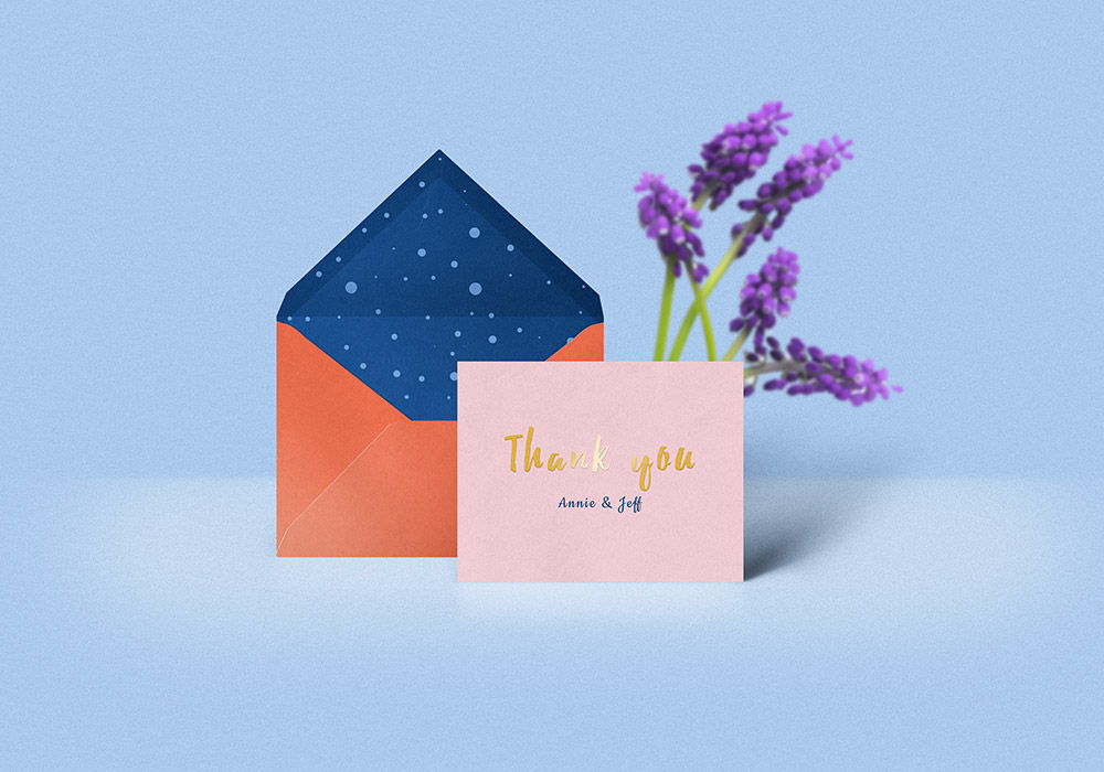Thank You Card Amp Envelope Mockup GraphicsFuel