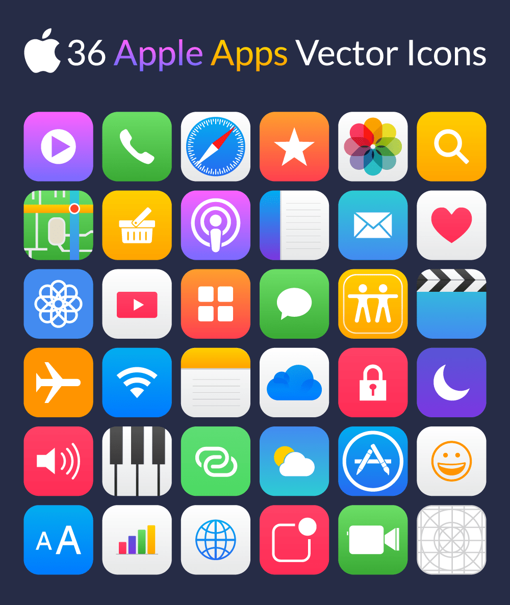 Free Apple Apps Icons
