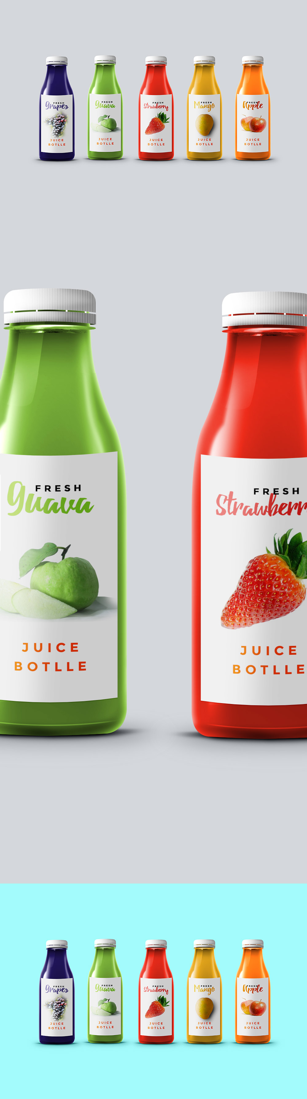 Juice Bottle Mockup Template