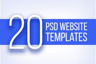 20 Best PSD Website Templates