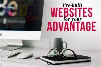 Pre-built Websites Advantage