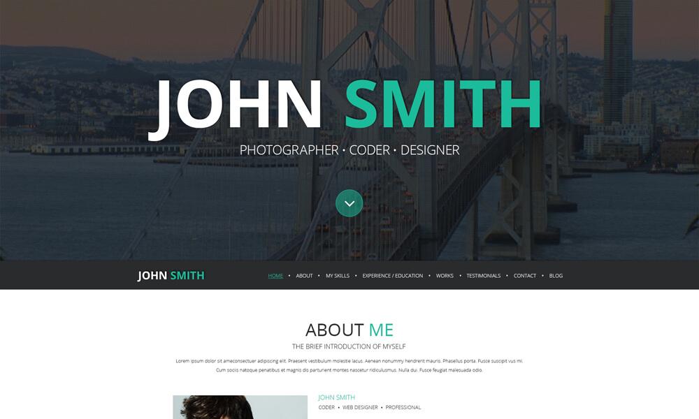 John Smith PSD Template