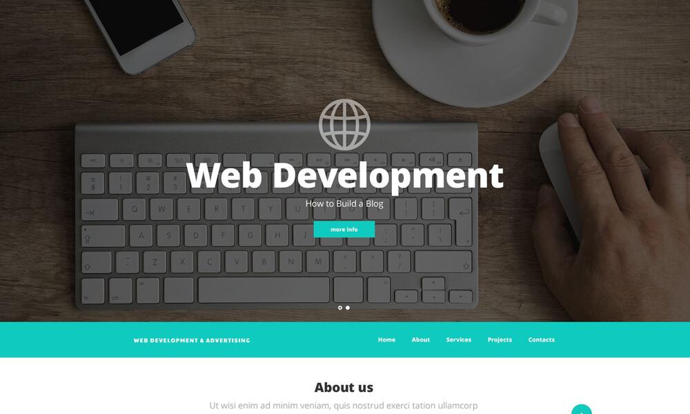 Web Developement PSD Template