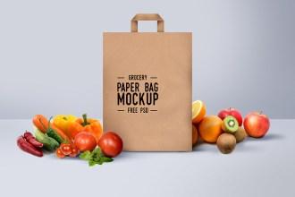 Shopping Paper Bag Mockup