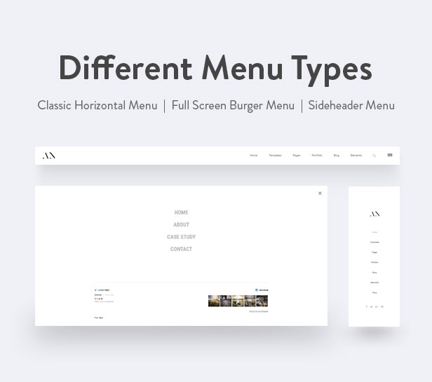 Animo Menu Types
