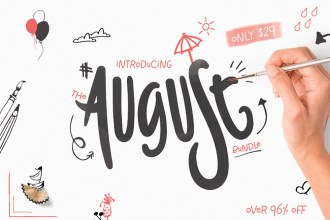 August Fonts & Design Bundle