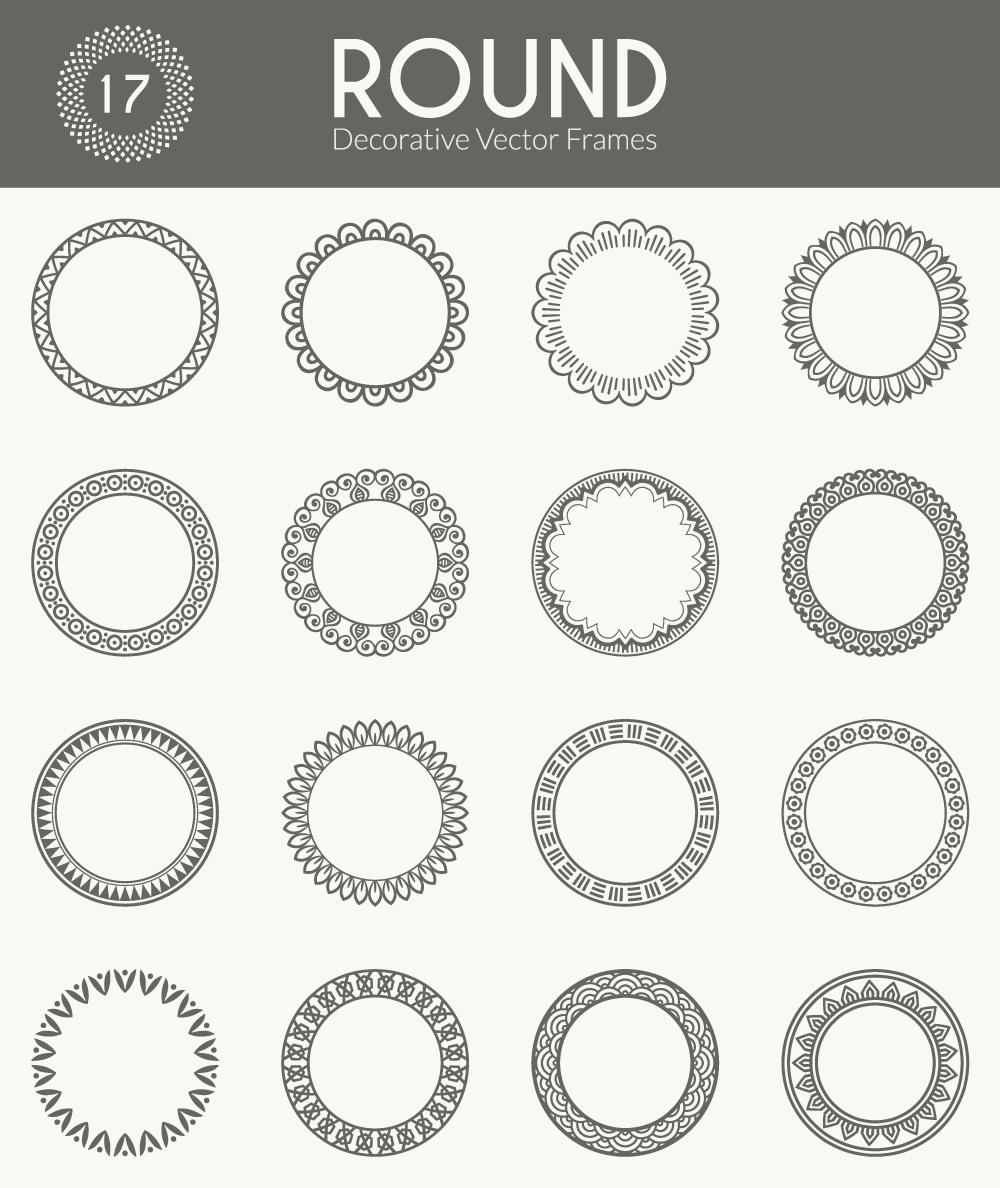 Round Vector Frames Vector