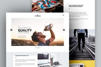 ETERNIA: Free Multipurpose Website Template PSD
