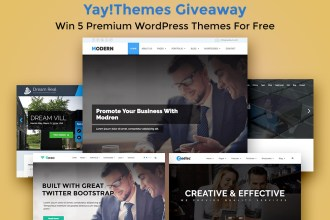 Giveaway: Win 5 Premium WordPress Themes from YayThemes