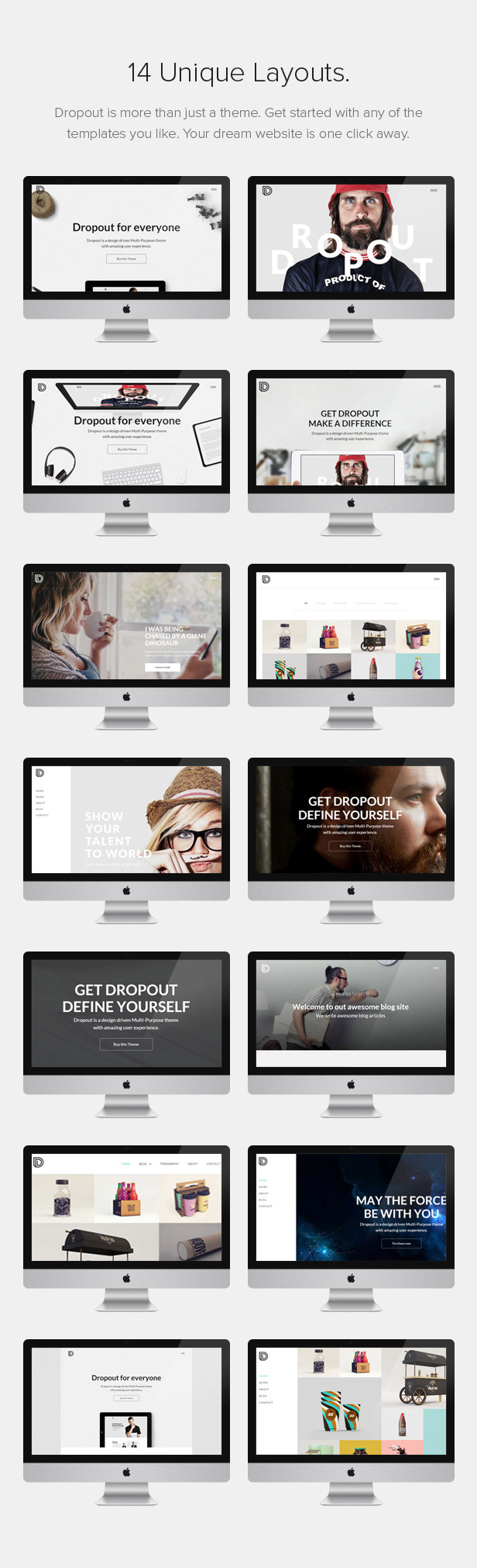 Dropout WP Theme Layouts