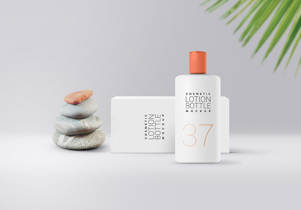Download Cosmetic Lotion Packaging Mockup - GraphicsFuel