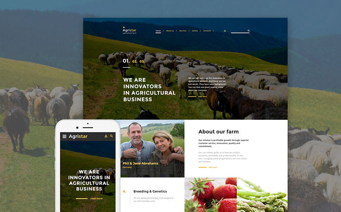 Farm Responsive Website Template