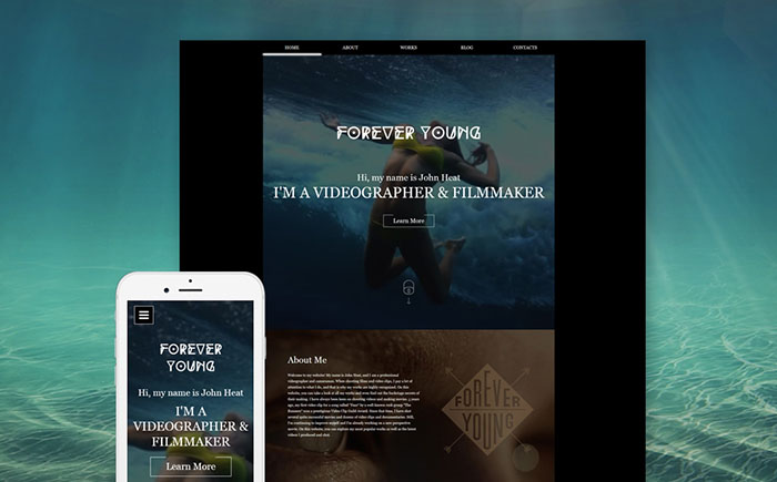Videographer Responsive Website Template
