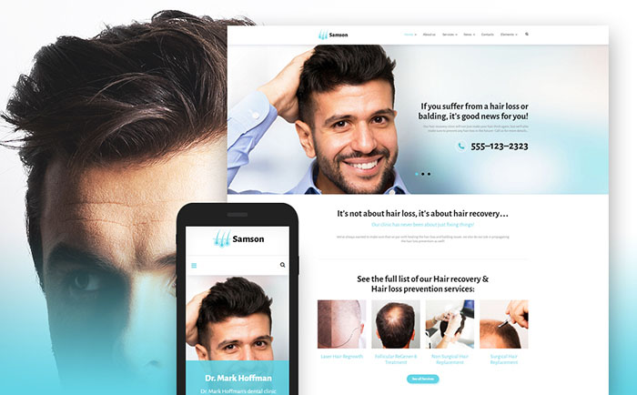 Hair Clinic Web Template