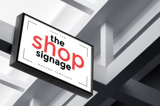 Free Outdoor Signage Mockup