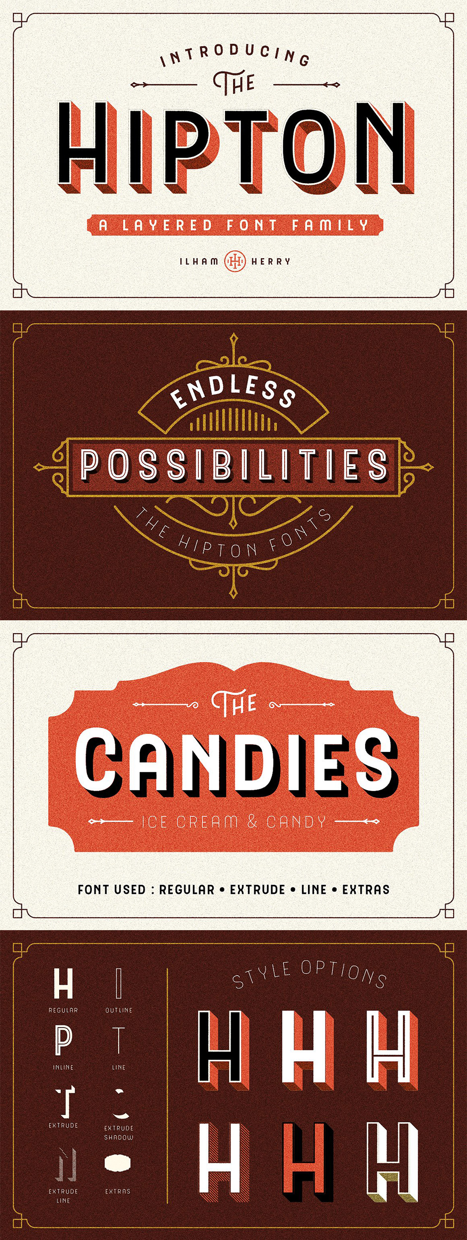 Definitive Fonts Bundle Hipton