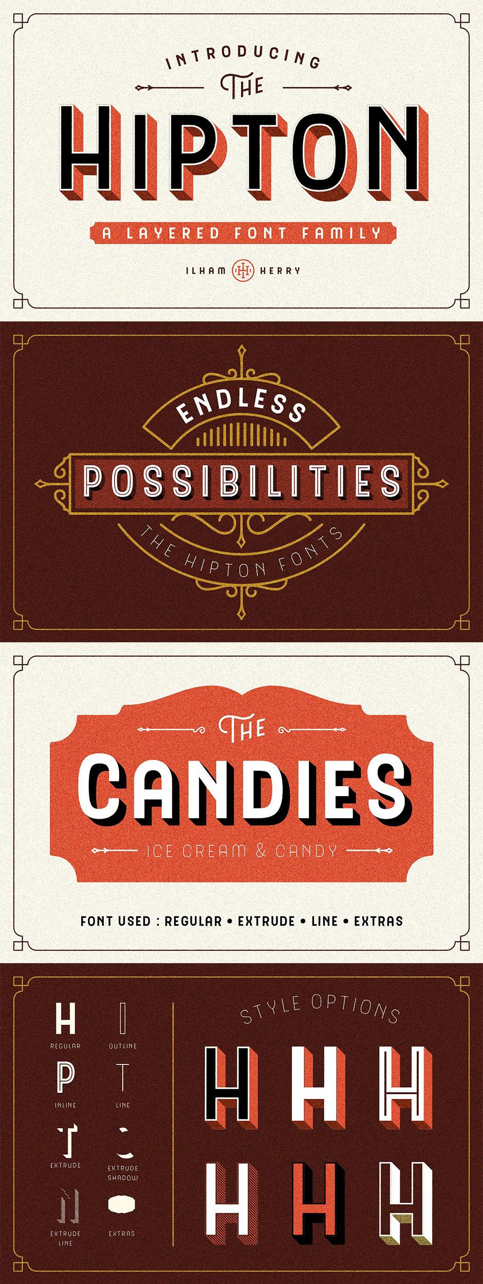 Definitive Fonts Bundle Hipton