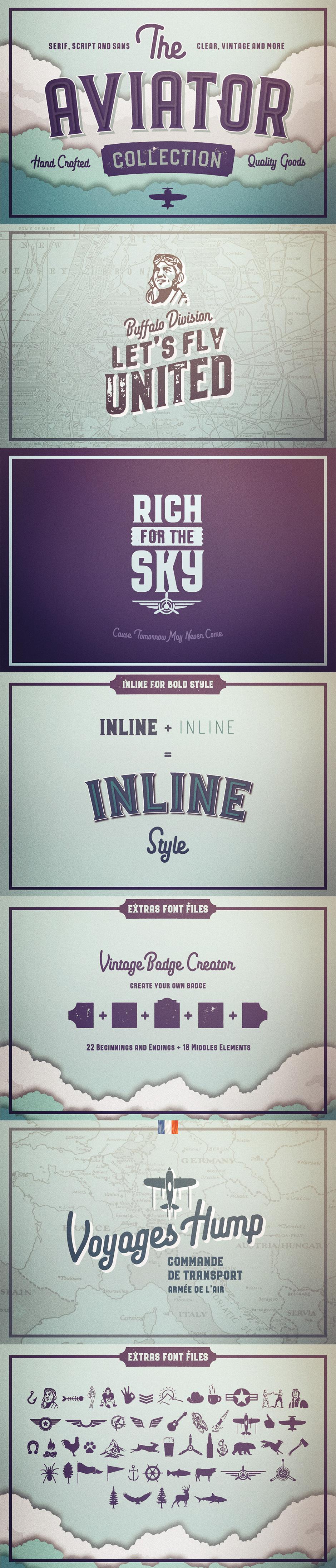 Definitive Fonts Bundle Aviator
