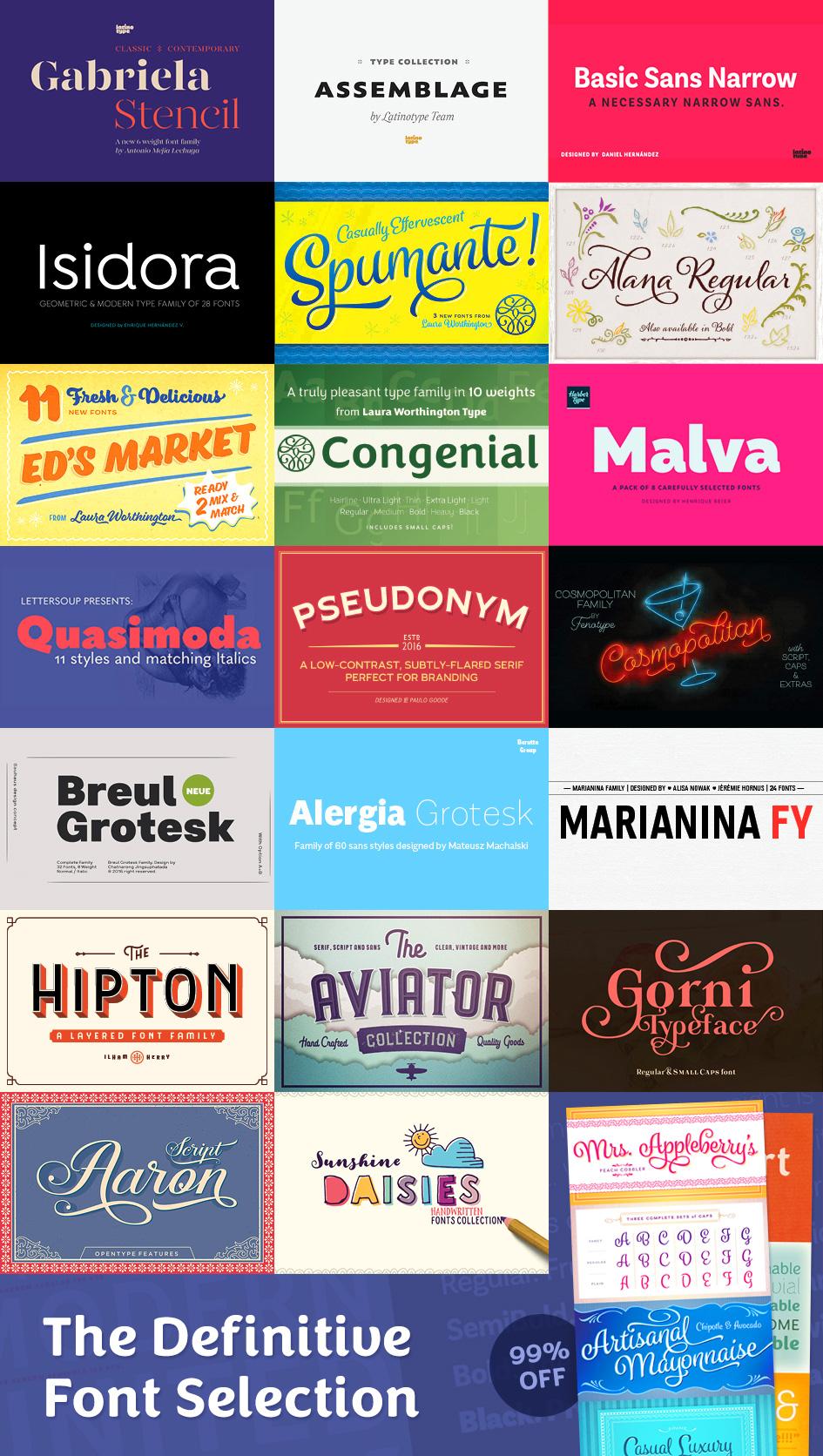 Definitive Fonts Bundle