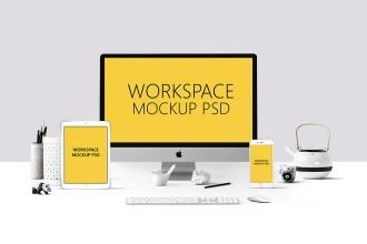 Workspace Mockup PSD