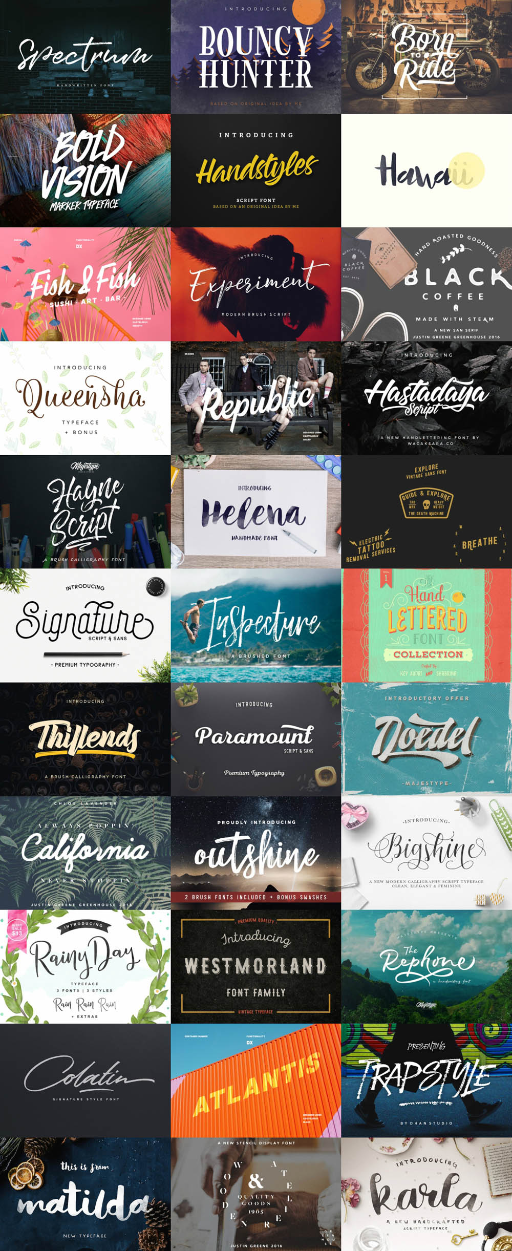 Sensational Fonts Bundle